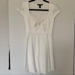 Forever 21 White Tie Front Dress